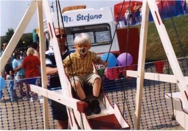 Set of children's swingboats or shuggy boats