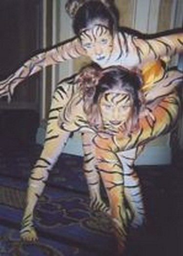 Full body painted statues will cause a stir at any party.