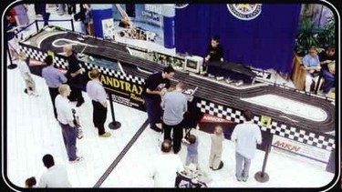 Giant Scalextric style car racing