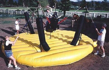 �Bungee Pull� your friends off the Bull