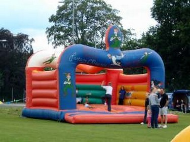 Inflatable fun for the kids to bounce around on.
