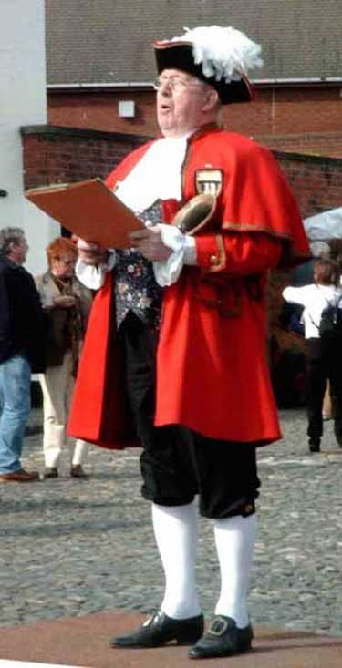 Town crier - brilliant for drawing attention to your event.