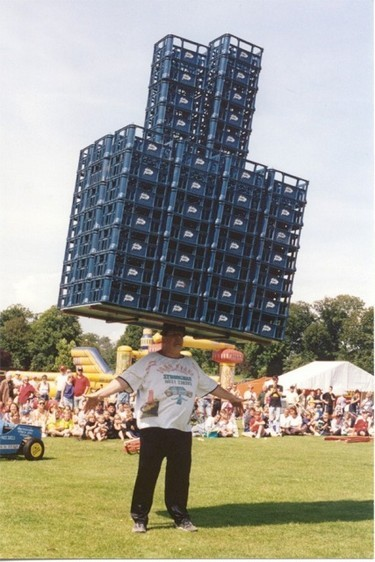 Guinness World Record holding balancing act