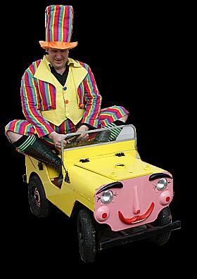Kiddies comedy clown car routine