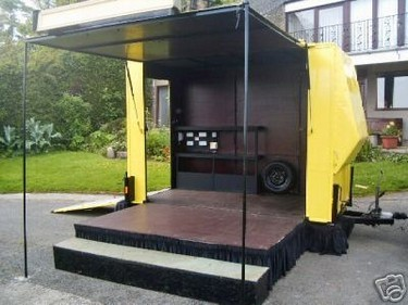 Ideal stage for a compere or announcer to host your fete.