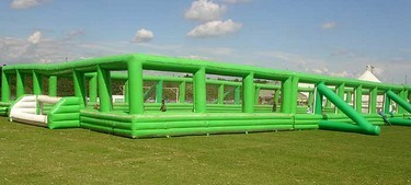 Inflatable five-a-side size football court