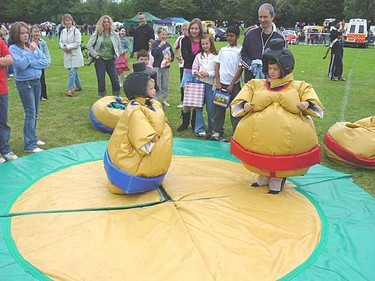 Sumo wrestling pantomime style costumes for children to wear