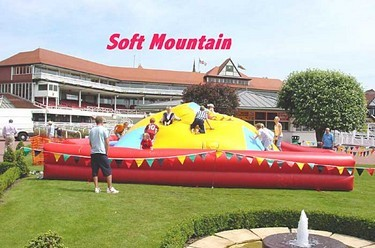Inflatable hill for children to climb