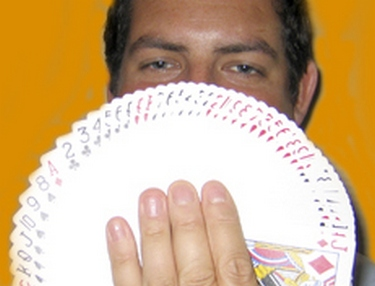 Philip on hand to entertain your guests by performing astonishing close-up magic