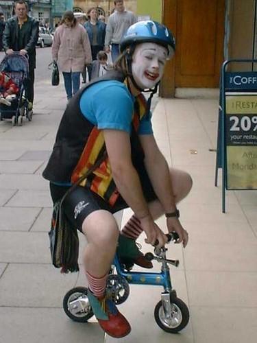 Batty behaviour on a barmy bike